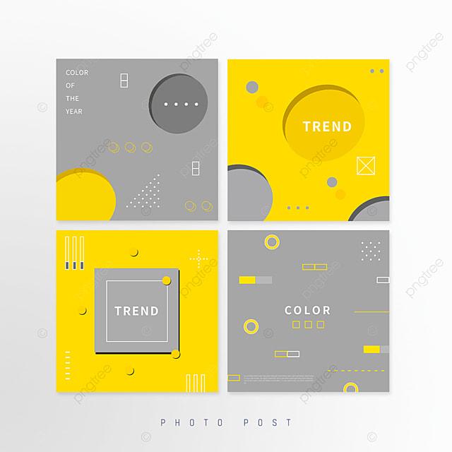 abstract yellow gray trend geometric social media