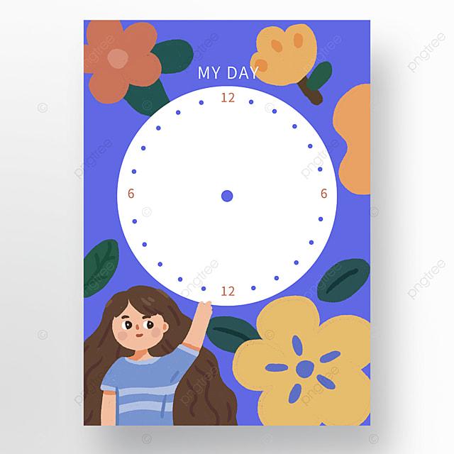 cartoon character flower time schedule