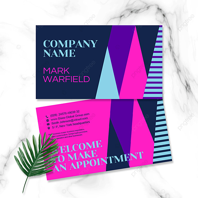 colorful geometric business personal double sided business card