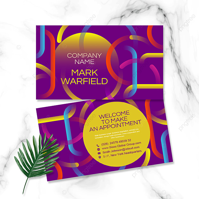 colorful geometric personal business cards
