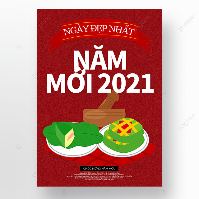 creative cartoon vietnamese new year poster template