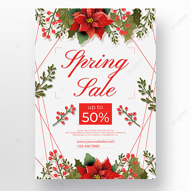 discount floral border poster