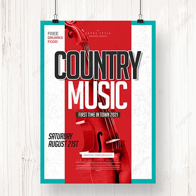 fashion retro minimalist country music poster