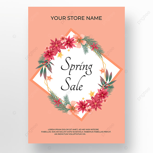 flower wire frame plant promotion poster