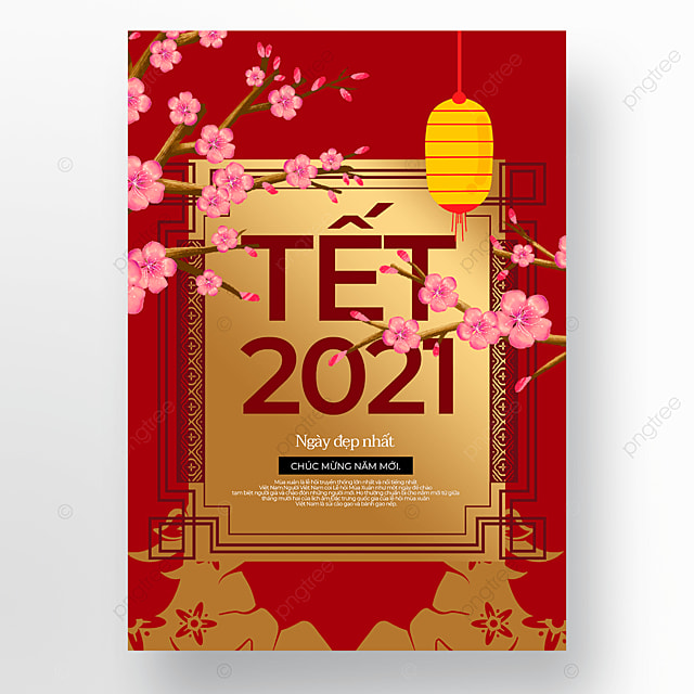 golden creative vietnamese new year poster template