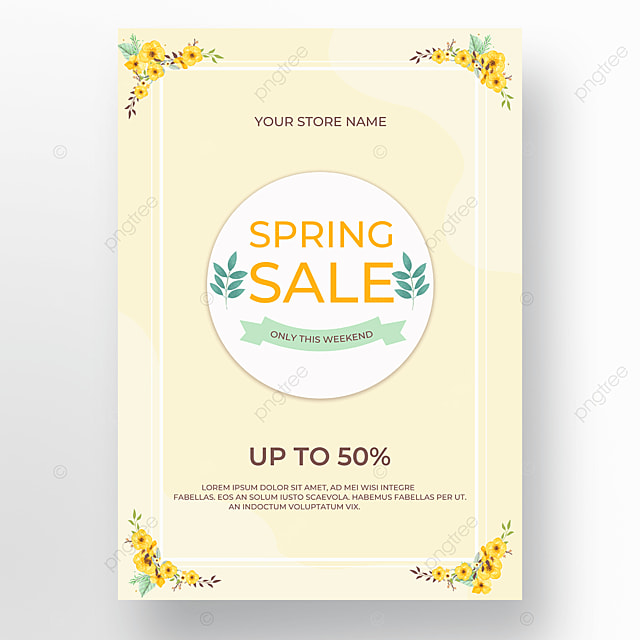 light yellow floral wireframe poster