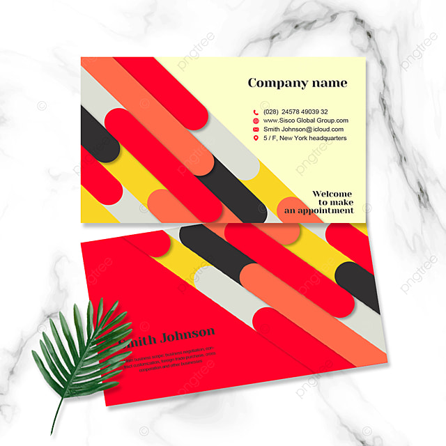 multi color block personal business cards