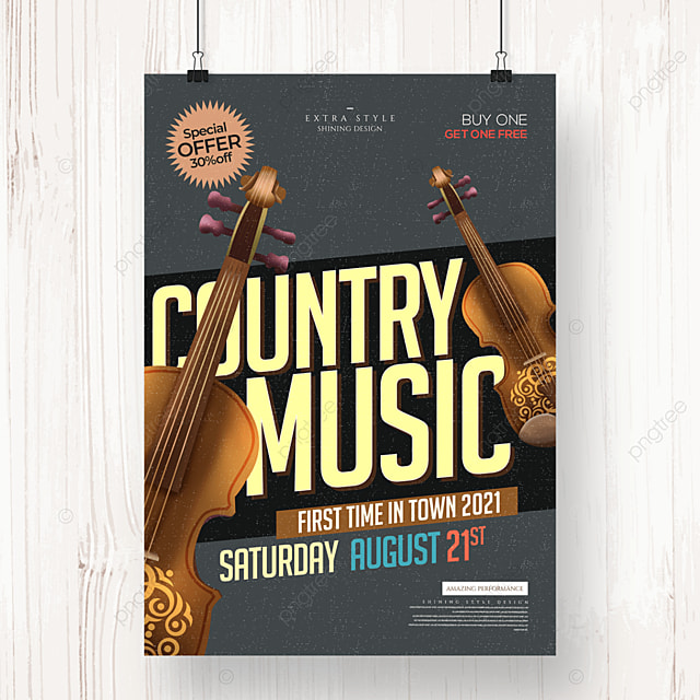 personality fashion retro country music poster