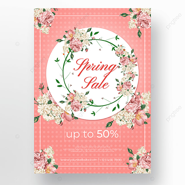 pink background promotion poster flowers