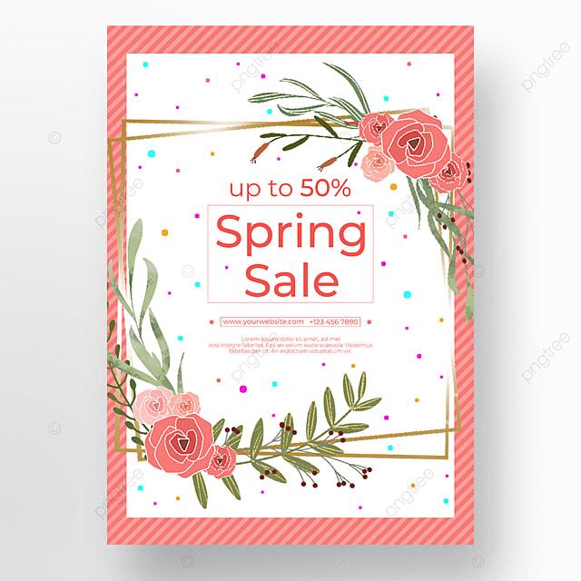 pink border white promotion poster
