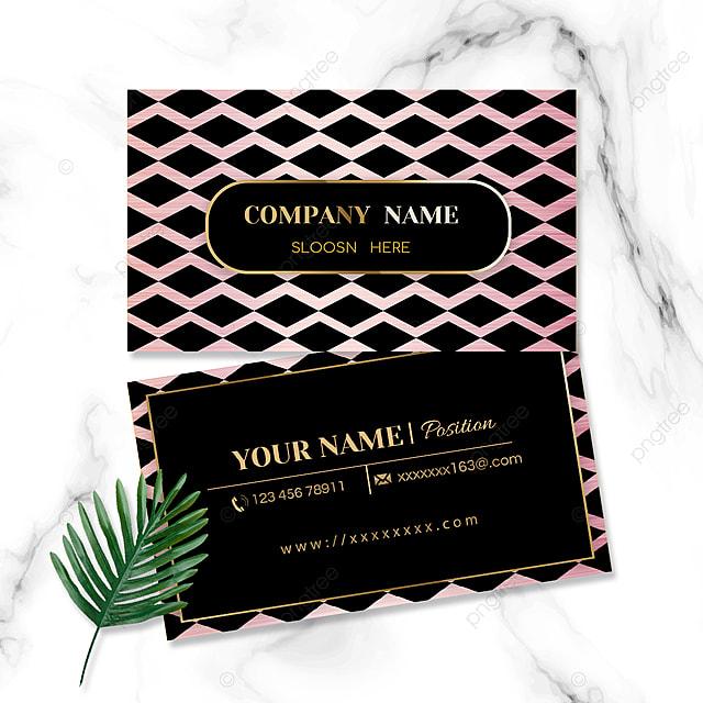rhombus geometric business card
