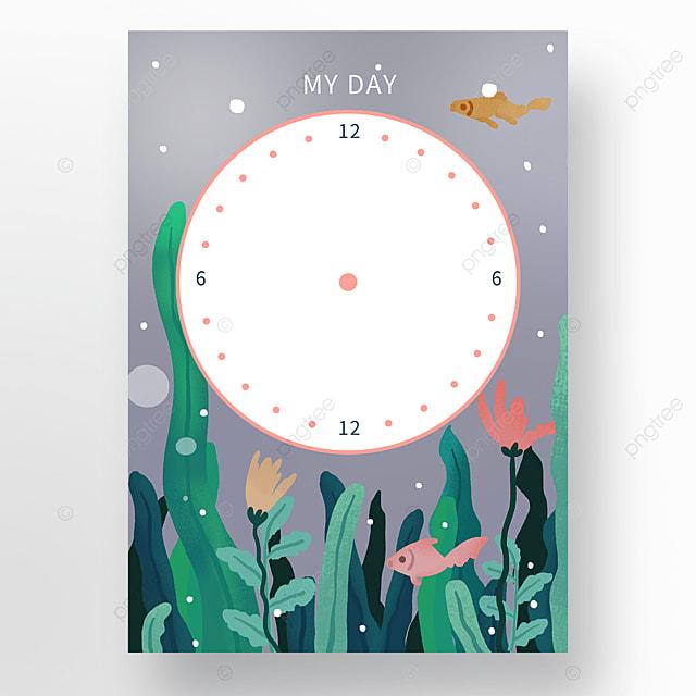 seaweed illustration day planner