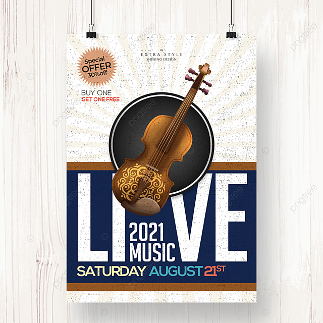 simple retro country music poster