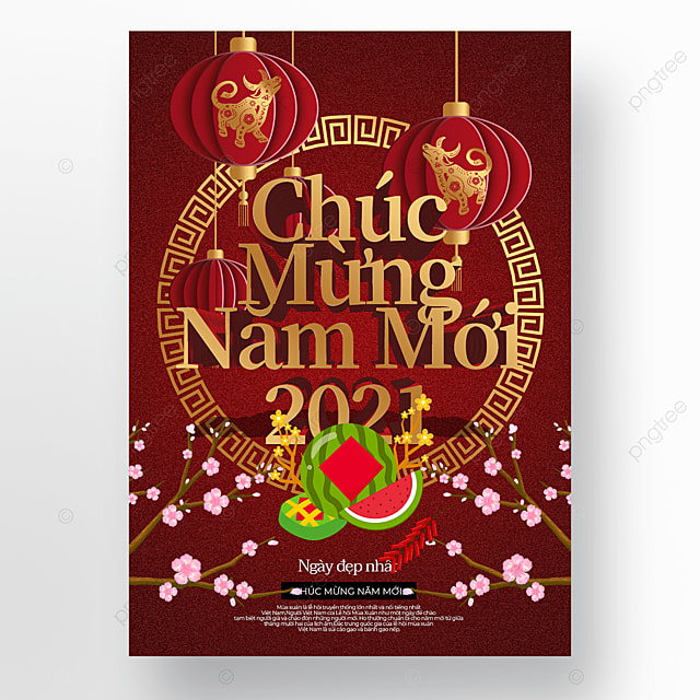 three dimensional golden creative vietnamese new year poster template