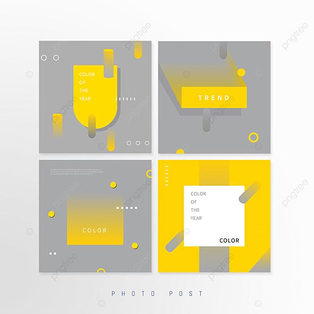yellow gray annual color creative geometric pop up window