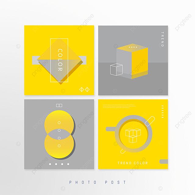 yellow gray annual color geometric pop up window