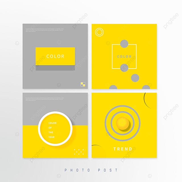 yellow gray creative geometric circle social media