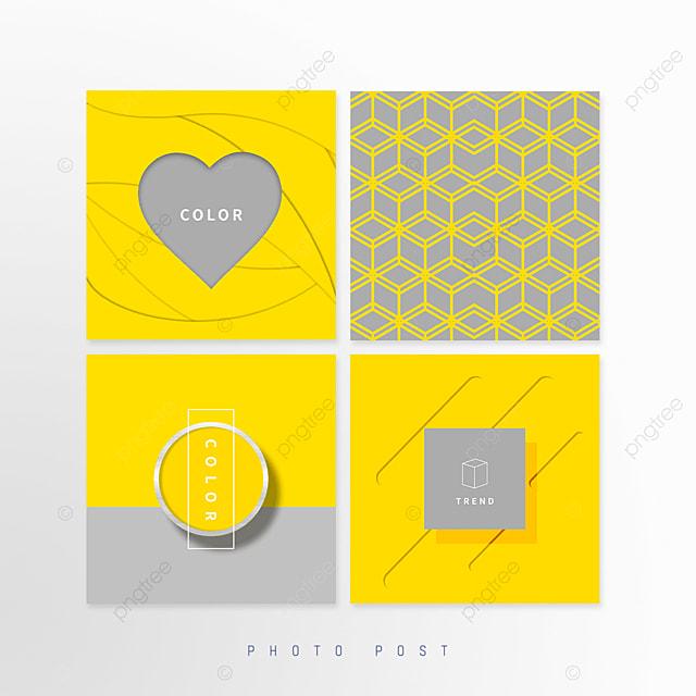 yellow gray creative geometric line pop up window
