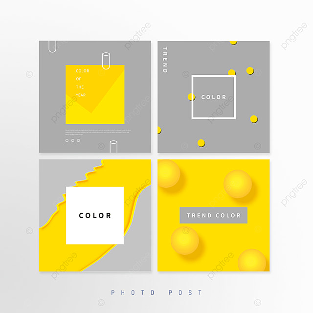 yellow gray trend annual color geometric pop up window