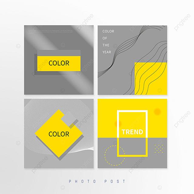 yellow gray trend annual color geometric social media