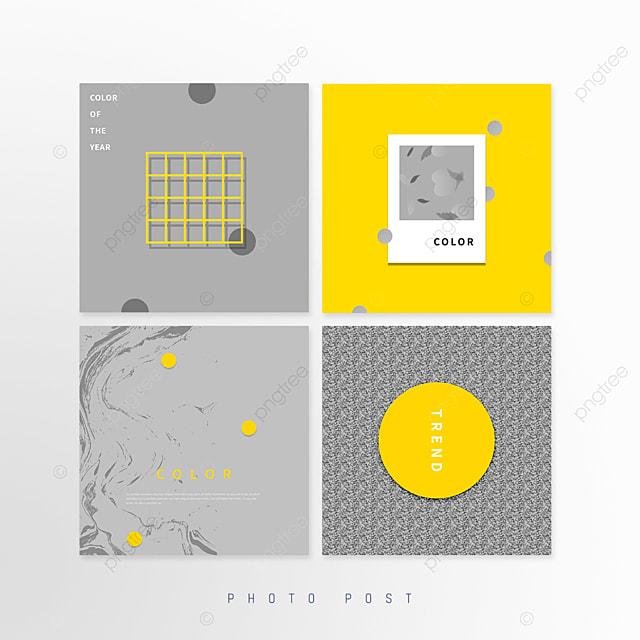 yellow gray trend art pop up window