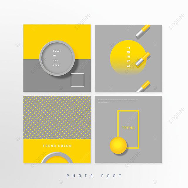 yellow gray trend creative circular geometric pop up window