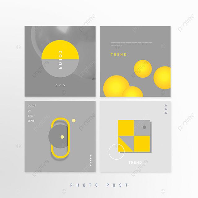 yellow gray trend creative geometric mosaic pop up window