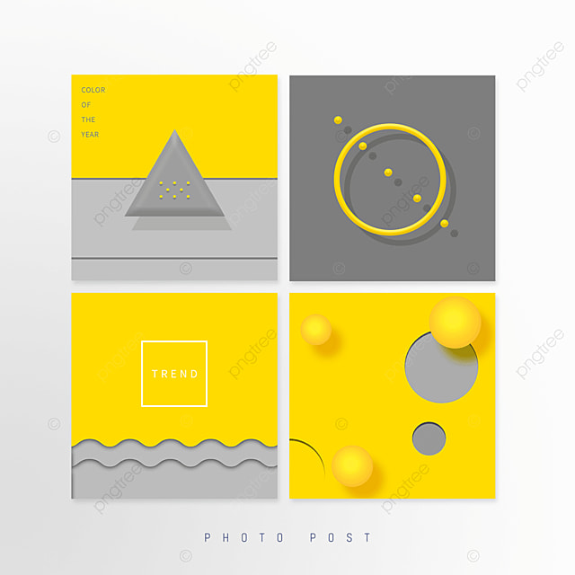 yellow gray trend creative geometric pop up window