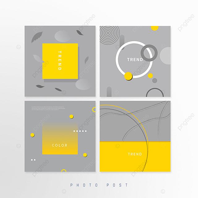 yellow gray trend geometric line pop up window