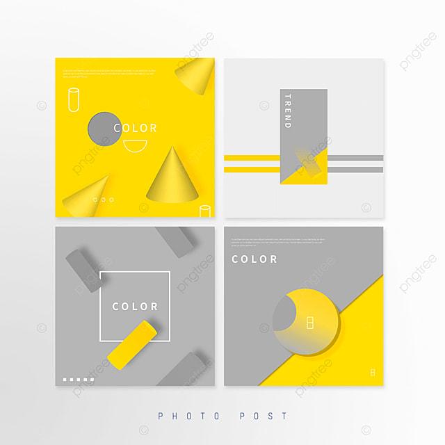 yellow gray trend geometric popup