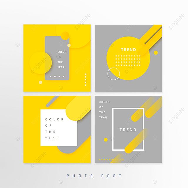 yellow gray trend geometric shape pop up window
