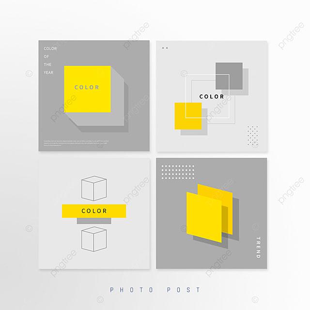 yellow gray trend geometric square line pop up window