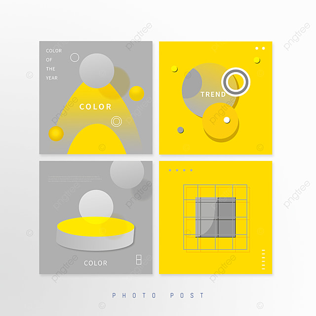 yellow gray trend solid geometric pop up window