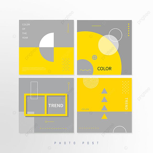 yellow gray trend trend color geometric line social media