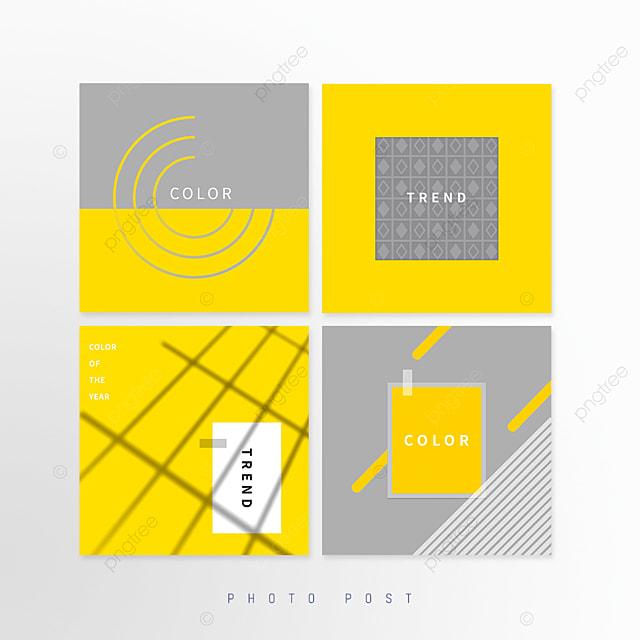 yellow gray trendy geometric lines social media