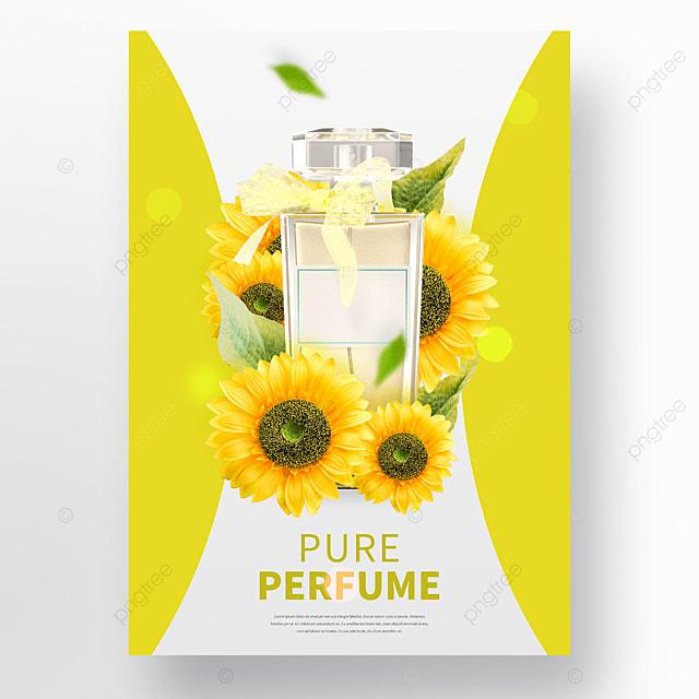 yellow flowers cosmetics perfume posters