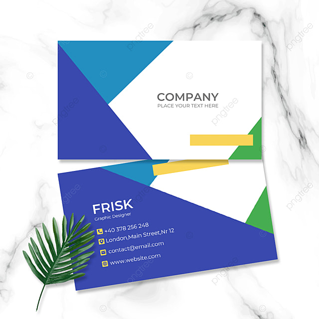 color block combination personal double sided business card