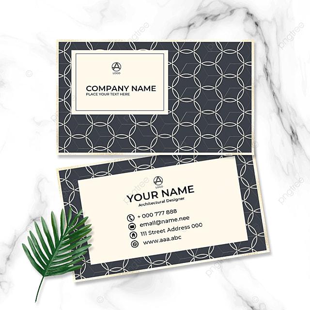 corporate geometric business card