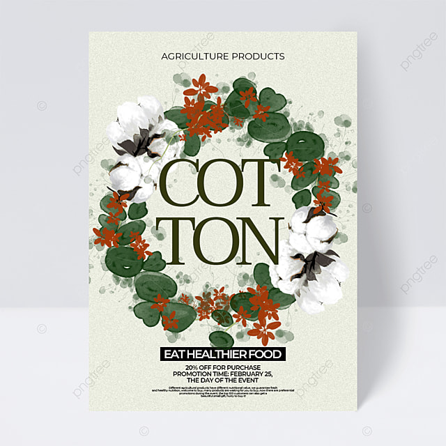 cotton retro style agricultural product sales promotion flyer