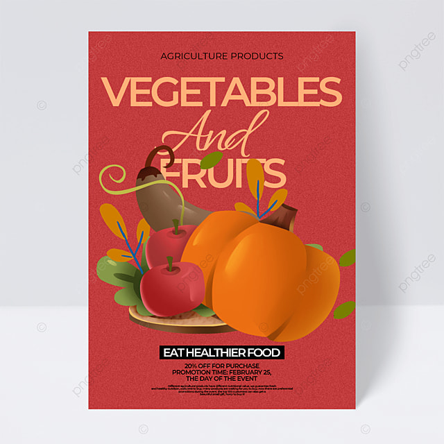 dark retro style fruit and vegetable farm product sales promotion flyer
