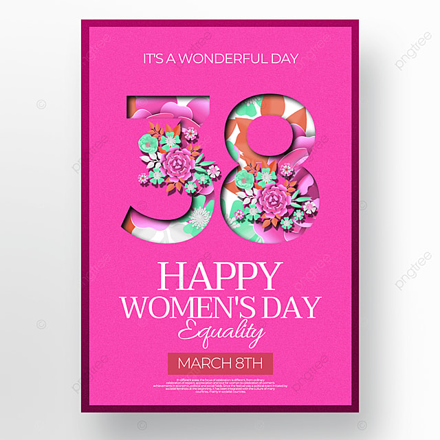 floral womens day creative poster