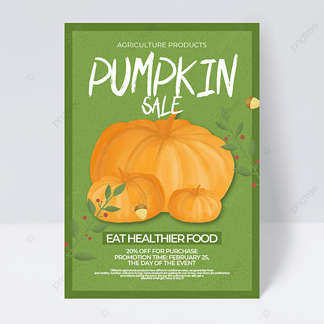 green creative cartoon retro style agricultural product sales promotion flyer