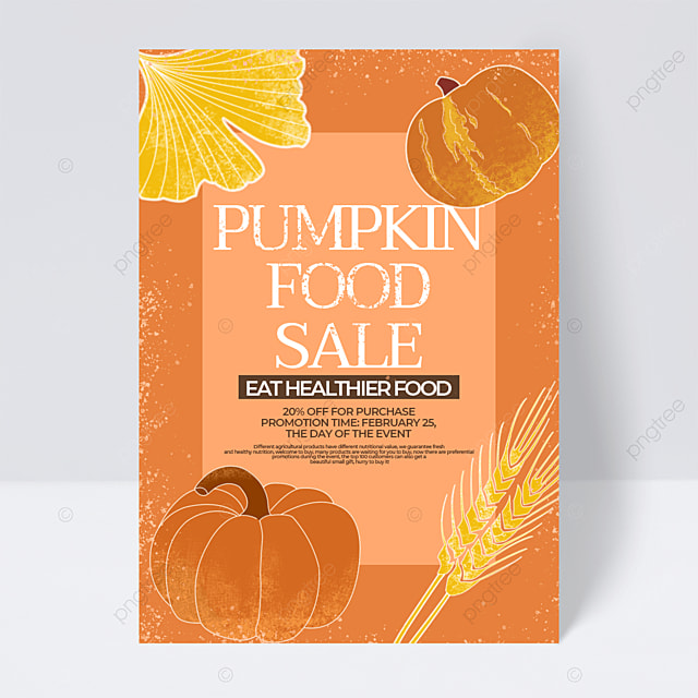 pumpkin yellow retro style agricultural product sale promotion flyer