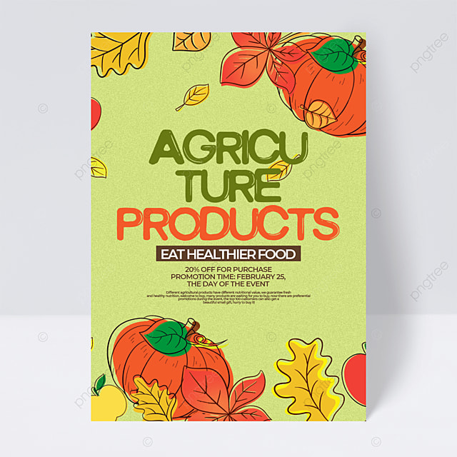 retro style cartoon creative agricultural product sales promotion flyer
