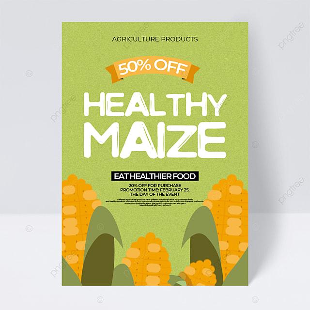 retro style corn farm products sales promotion flyer