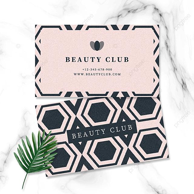 rose gold ink blue geometric business elegant business card