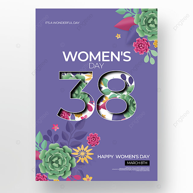 simple and creative floral womens day poster