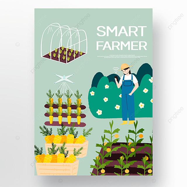 wisdom farm cartoon style poster