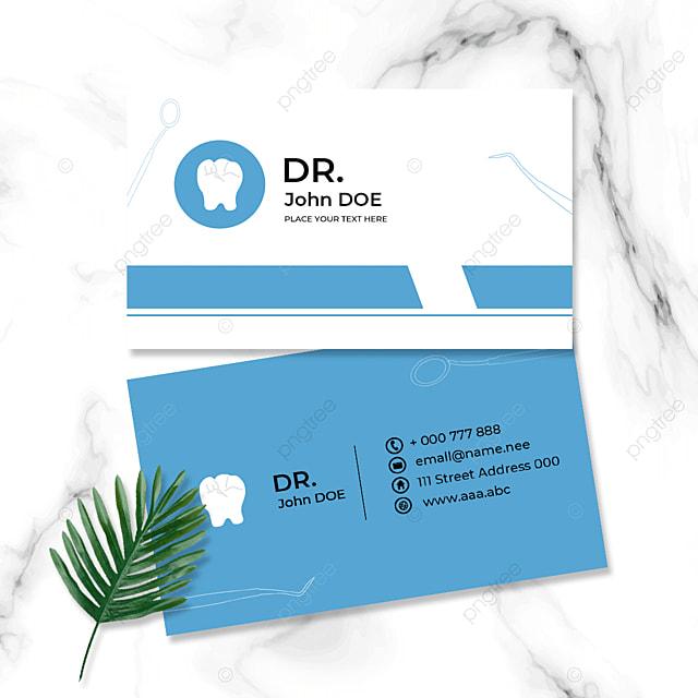 blue medical profession doctor business card