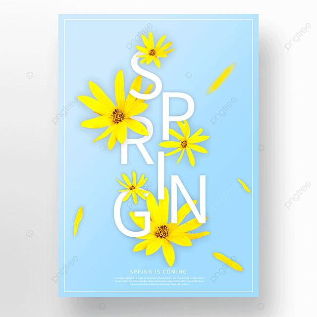 blue spring petal poster